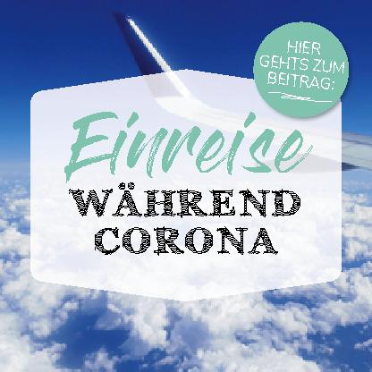 Banner Einreise während Corona