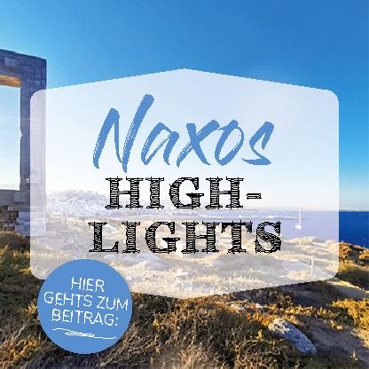 Beitrag Button Naxos Highlights mit dem Naxos Tor im Hintergrund