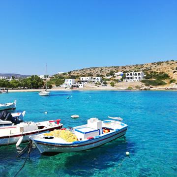 Fischerboot in Griechenland am Strand