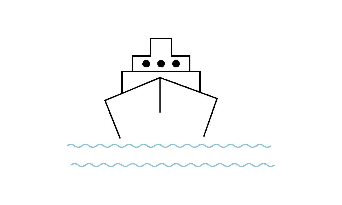 Schiff Icon für den Artikel Fähre
