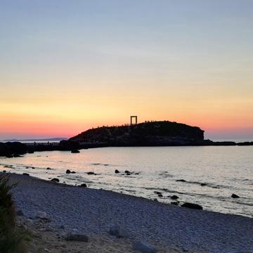 Naxos Tor bei Sonnenuntergang