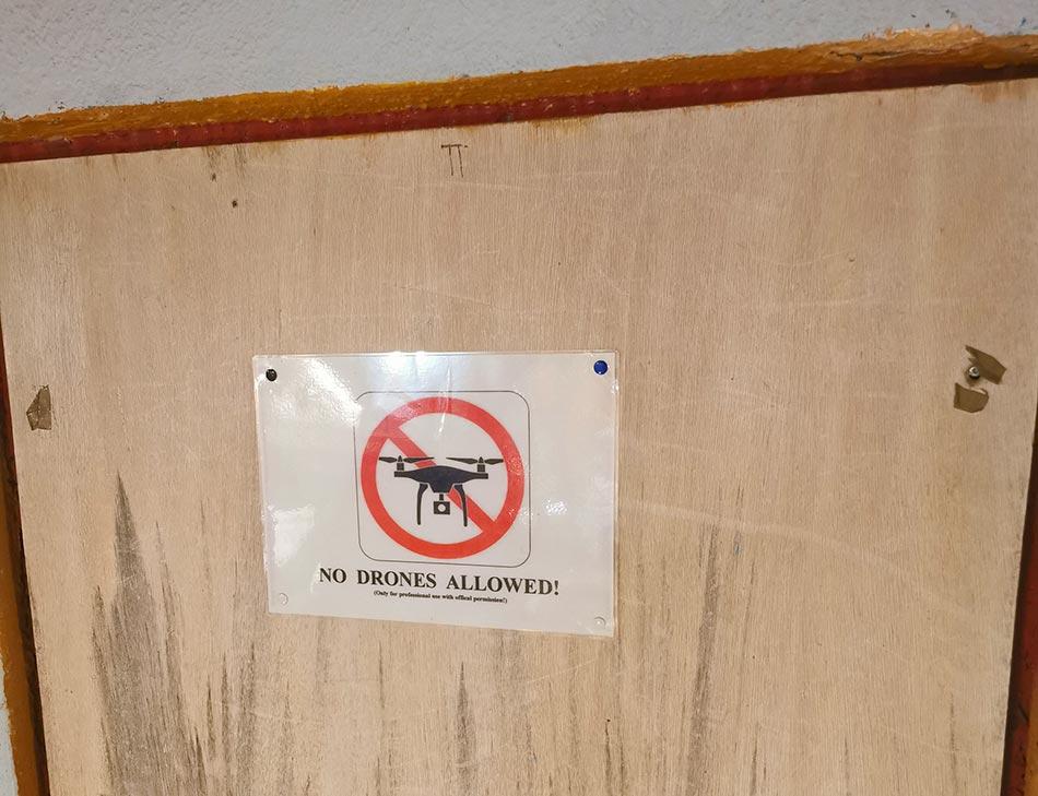 Drohnen nicht erlaubt Schild