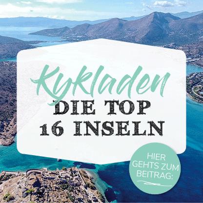 Banner zu den Top 16 Inseln der Kykladen