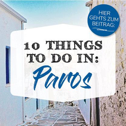 Banner Kykladen Insel Paros 10 thinks to Do