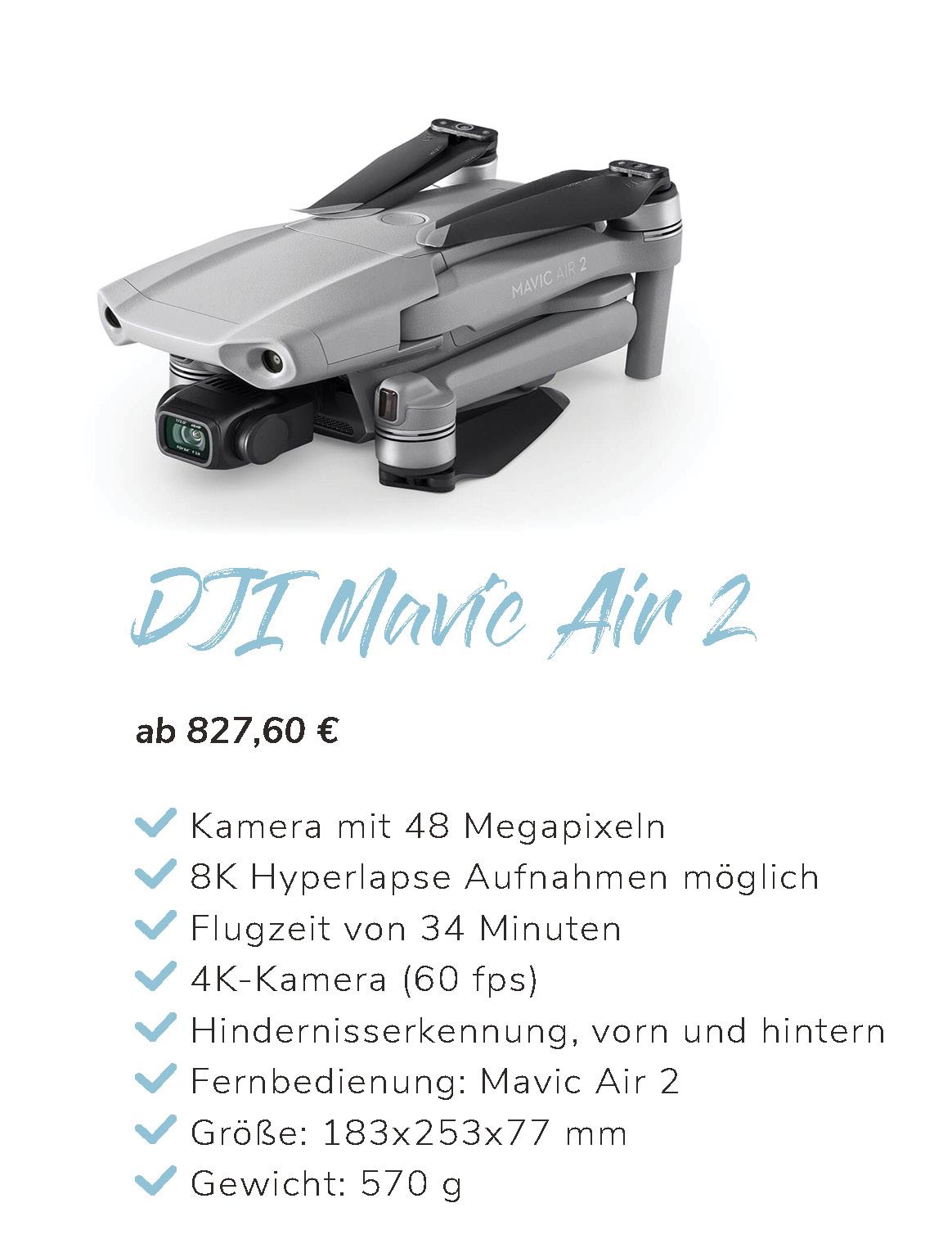 DJI Mavic 2 Air Übersicht und Eigenschaften