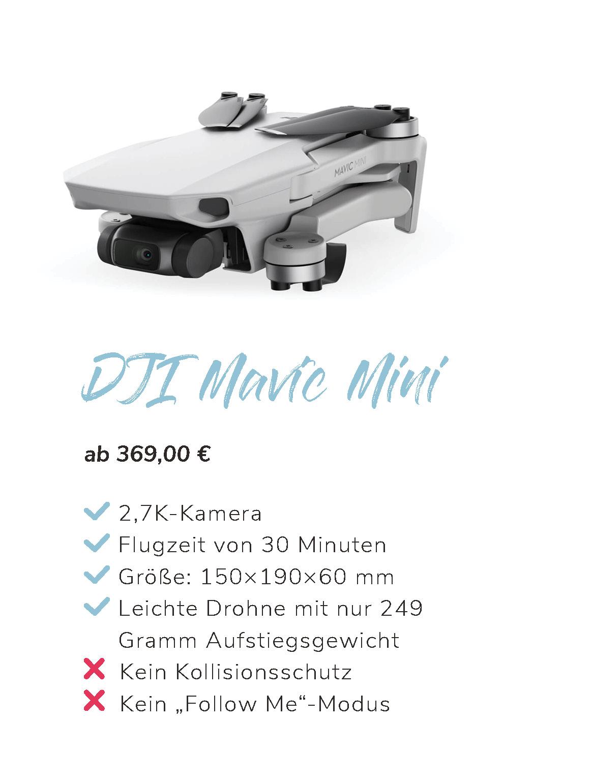 DJI Mini  Übersicht